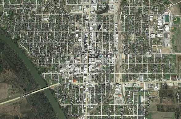 Miami, Oklahoma Arial Map
