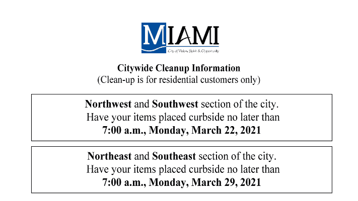 2021 Citywide Cleanup flyer